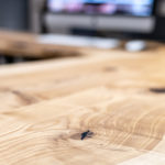 Massivholz-Schreibtisch - elektrisch